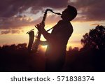 Saxophone Player Or Saxophonis...