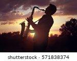Saxophone Player Or Saxophonis...