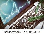 healthcare online concept....   Shutterstock . vector #571840810