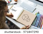 composition layout simulation... | Shutterstock . vector #571847290