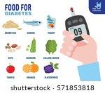 food for diabetics consisting... | Shutterstock .eps vector #571853818