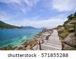Beautiful Sea With Blue Sky An...