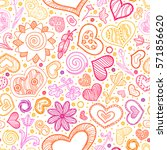 valentines day card ornate... | Shutterstock .eps vector #571856620