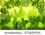 bright tropical background.... | Shutterstock .eps vector #571859524