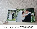 Small photo of Dual pages of wedding album or wedding book.