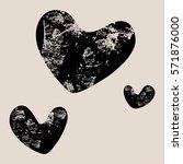 vector grunge black heart.... | Shutterstock .eps vector #571876000