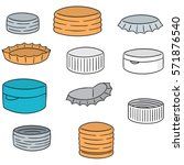 vector set of bottle cap | Shutterstock .eps vector #571876540