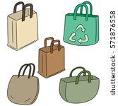 vector set of bag | Shutterstock .eps vector #571876558