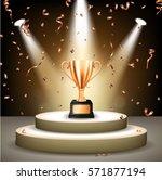 Realistic Bronze Trophy On...