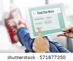 search engine box random concept | Shutterstock . vector #571877350