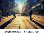 crowd of anonymous people... | Shutterstock . vector #571880734