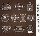 vintage tailor sewer badge... | Shutterstock .eps vector #571881256
