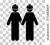 workers icon. vector... | Shutterstock .eps vector #571883809
