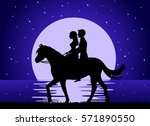 romantic background with couple ... | Shutterstock .eps vector #571890550