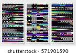 glitch backgrounds set. mobile... | Shutterstock .eps vector #571901590