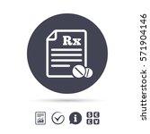medical prescription rx sign... | Shutterstock .eps vector #571904146