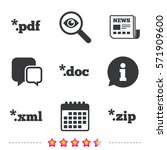 document icons. file extensions ... | Shutterstock .eps vector #571909600
