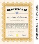 orange sample diploma. with... | Shutterstock .eps vector #571913083