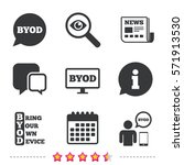 byod icons. human with notebook ... | Shutterstock .eps vector #571913530