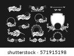 design elements laurel wreaths... | Shutterstock .eps vector #571915198