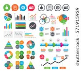 business charts. growth graph.... | Shutterstock .eps vector #571915939