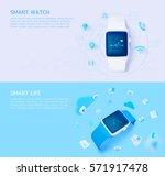 set of 3d illustration concept...   Shutterstock .eps vector #571917478
