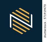 modern letter n logo.  | Shutterstock .eps vector #571919470