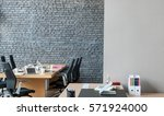 office interior behind brick... | Shutterstock . vector #571924000