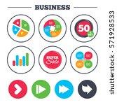 business pie chart. growth... | Shutterstock . vector #571928533