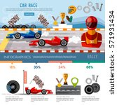car racing infographic  auto... | Shutterstock .eps vector #571931434