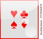 playing card suit | Shutterstock .eps vector #571934374