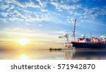 logistics and transportation of ... | Shutterstock . vector #571942870