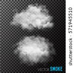 transparent set of smoke... | Shutterstock .eps vector #571945510