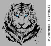 white tiger background. | Shutterstock .eps vector #571948153