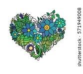 ornamental st.valentine's... | Shutterstock .eps vector #571949008