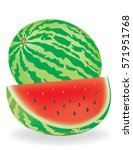 watermelon cartoon | Shutterstock .eps vector #571951768
