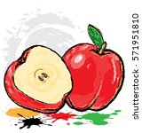 apple cartoon | Shutterstock .eps vector #571951810