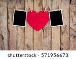 Red Heart And Two Photo Frame...