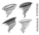 vector hand drawn hurricane... | Shutterstock .eps vector #571959340