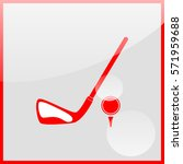golf ball and putter icon.   Shutterstock .eps vector #571959688
