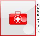 first aid icon. | Shutterstock .eps vector #571959928