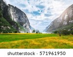 Sunny Day Scenery By Lysefjord...