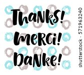 thank you lettering in english  ... | Shutterstock .eps vector #571963240