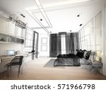 abstract sketch design of... | Shutterstock . vector #571966798