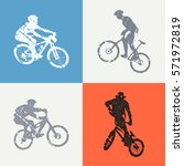 bike and bikers man... | Shutterstock .eps vector #571972819