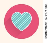 heart icon. valentines day card ... | Shutterstock .eps vector #571975780
