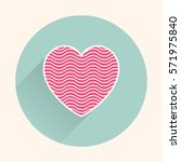 heart icon. valentines day card ... | Shutterstock .eps vector #571975840