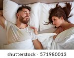 couple problem with snoring in... | Shutterstock . vector #571980013