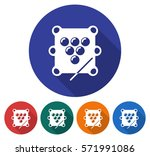 round icon of  billiards. table ... | Shutterstock .eps vector #571991086