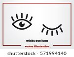 eyes and eyelashes icon vector... | Shutterstock .eps vector #571994140
